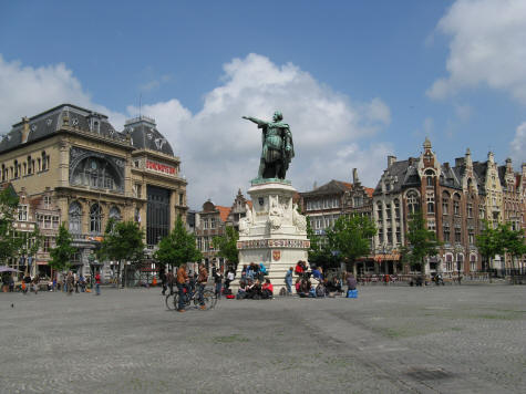 Friday Market Square in Gent Belgium (Ghent)